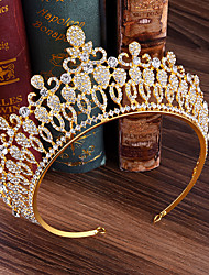 cheap -Crystal / Alloy Tiaras / Headpiece with Crystal 1 Piece Wedding / Party / Evening Headpiece