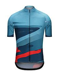 cheap -Men's Short Sleeve Cycling Jersey Blue Dot Bike Jersey Top Sports Terylene Clothing Apparel / High Elasticity