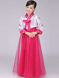 abordables -Hanbok Girl Enfant Fille Asiatique Coréen traditionnel Jeogori Hanbok Magoja Pour Soirée de Fiançailles Enterrement de Vie de Jeune Fille Autre matériel / Coton Courte / Mini Manteau Jupe Ceinture de