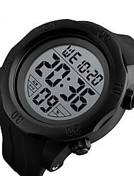 Недорогие -SKMEI Муж. электронные часы Цифровой силиконовый Черный / Зеленый 50 m Защита от влаги Календарь Хронометр Цифровой Классика Мода - Черный Зеленый