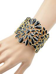 cheap -Women's Cuff Bracelet Hollow Out Fashion Chrome Bracelet Jewelry Black / Beige For Daily Date