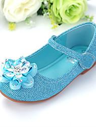 cheap -Girls' Comfort / Flower Girl Shoes PU Flats Little Kids(4-7ys) / Big Kids(7years +) Rhinestone / Sparkling Glitter Blue Fall / Winter / Party & Evening