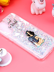 cheap -Phone Case For Huawei Back Cover Huawei P20 Pro Huawei P20 lite Huawei P30 Huawei P30 Pro Huawei P30 Lite P10 Lite P8 Lite (2017) Shockproof Flowing Liquid Pattern Dog Glitter Shine Soft TPU