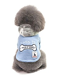cheap -Dogs Coat Sweatshirt Winter Dog Clothes Blue Coffee Costume Corgi Beagle Bulldog Cotton Patterned Character Bone Casual / Daily Simple Style S M L XL XXL