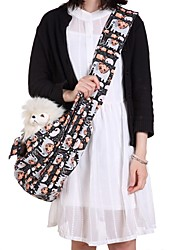 cheap -Dogs Cats Shoulder Messenger Bag Pet Carrier Portable Cartoon Design Travel Animal Character Black Gray Blue
