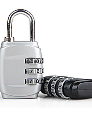 cheap -Coded Lock Portable Durable Metal 1 pc Black White Travel Accessory