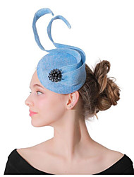 cheap -Women's Ladies Tiaras Fascinators For Wedding Party / Evening Prom Princess Feather Fabric Light Blue