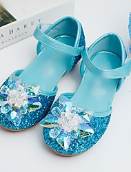 cheap -Girls' Comfort / Flower Girl Shoes PU Sandals Toddler(9m-4ys) / Little Kids(4-7ys) Sparkling Glitter Silver / Blue Spring / Summer / Wedding / Party & Evening / Wedding / Rubber