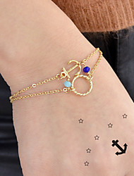 cheap -Women's Chain Bracelet Anchor Anchor Stylish Boho Alloy Bracelet Jewelry Gold / Silver For Daily Date