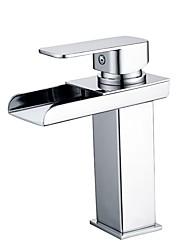 cheap -Bathroom Sink Faucet - Waterfall Chrome Free Standing Single Handle One HoleBath Taps