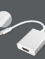 Недорогие -HDMI / Type-C Адаптер <1m / 3ft 1080P Пластиковые & Металл / ABS + PC Адаптер USB-кабеля Назначение Macbook / MacBook Air
