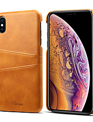 cheap -Case For Apple iPhone XS / iPhone XR / iPhone XS Max Card Holder Back Cover Solid Colored Hard PU Leather
