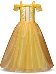 cheap -Princess Long Length Party / Birthday Chiffon / Polyester Short Sleeve Spaghetti Strap with Lace / Tier / Crystals / Rhinestones