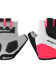 cheap -BOODUN Bike Gloves / Cycling Gloves Mountain Bike MTB Breathable Anti-Slip Sweat-wicking Protective Fingerless Gloves Half Finger Sports Gloves Lycra Black Fuchsia Green for Adults' Racing