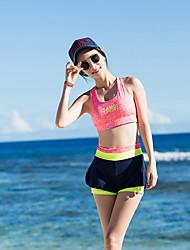 cheap -SANQI Women's Two Piece Swimsuit Elastane Neoprene Swimwear Breathable Quick Dry Sleeveless Swimming Water Sports Patchwork Summer