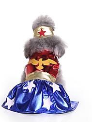 cheap -Dogs Costume Dress Christmas Winter Dog Clothes Black Red Blue Costume Corgi Beagle Bulldog Polyester / Cotton Blend Classic Christmas Cosplay Christmas S M L XL