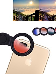 cheap -Mobile Phone Lens Lens with Filter Glasses / Plastic & Metal / Aluminium Alloy 1X 4 mm 3 m 180 ° Creative / New Design / Cool