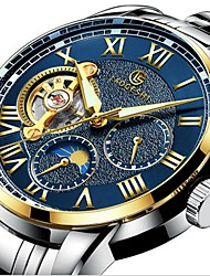 cheap -Men's Mechanical Watch Automatic self-winding Black / Silver 30 m Water Resistant / Waterproof Noctilucent Moon Phase Analog Luxury Sparkle - Dark Blue Black / White Light Blue