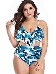 abordables -Femme Bleu Tankinis Maillots de Bain - Géométrique XL XXL XXXL Bleu