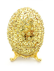 cheap -Jewelry Box Trinket Box Antique Jeweled Russian Zinc Alloy Rhinestones For Easter Egg Cosplay Easter Women's Costume Jewelry Fashion Jewelry