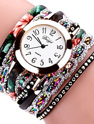 cheap -Women's Bracelet Watch Vintage Fashion Black White Red PU Leather Chinese Quartz Sky Blue Light Green Peach Casual Watch Lovely 1 pc Analog One Year Battery Life