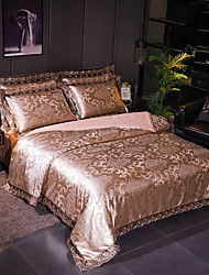 cheap -Duvet Cover Sets Luxury Polyster Jacquard 4 PieceBedding Sets