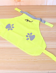 cheap -Dogs Cats Vest Dog Clothes Yellow Costume Polyester Print Simple Ordinary Casual / Daily
