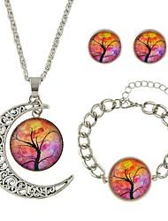 cheap -Women's Stud Earrings Pendant Necklace Pendant Bracelet Geometrical Stylish Boho Earrings Jewelry Purple / Yellow / Blue For Daily Date 1 set