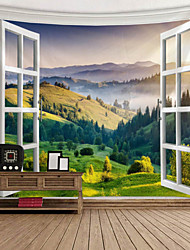 cheap -Window Landscape Wall Tapestry Art Decor Blanket Curtain Picnic Tablecloth Hanging Home Bedroom Living Room Dorm Decoration Polyester Garden Forest Mountain