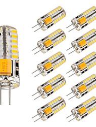 cheap -10pcs 3 W LED Bi-pin Lights 220 lm G4 T 48 LED Beads SMD 3014 Lovely Warm White Cold White 12 V