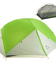 cheap -Naturehike 2 person Backpacking Tent Outdoor Portable Windproof Rain Waterproof Double Layered Camping Tent >3000 mm for Hiking Camping Traveling 210*255*100 cm