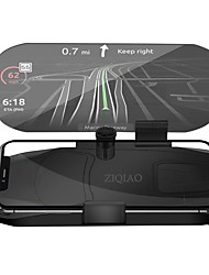 cheap -ZIQIAO Car HUD Head Up Display Speed Warning GPS Navigation HUD Bracket For Smart Mobile Phone Car Stand Folding Holder