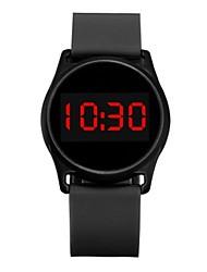 cheap -OHSEN Couple's Digital Watch Digital Silicone Black / White / Blue Creative New Design Luminous Digital Casual - Black Fuchsia Blue