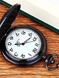 cheap -Men's Pocket Watch Quartz Black New Design Cool Analog Casual Minimalist Aristo - Black