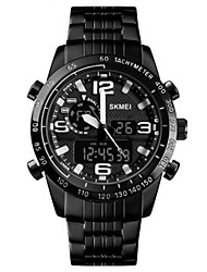 cheap -SKMEI Men's Dress Watch Quartz Classic Water Resistant / Waterproof Analog - Digital Black / Stainless Steel / Calendar / date / day / Stopwatch / Noctilucent