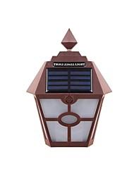 Недорогие -1шт 3.5 W Солнечный свет стены Работает от солнечной энергии / Декоративная Тёплый белый 1.2 V Уличное освещение / двор / Сад 1 Светодиодные бусины