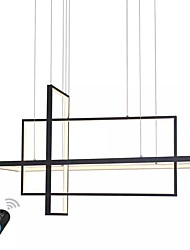 cheap -UMEI™ Linear Geometric Chandelier Ambient Light Painted Finishes Aluminum Dimmable 110-120V / 220-240V White / Dimmable With Remote Control / Wi-Fi Smart / FCC