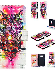 cheap -Case For Samsung Galaxy S9 / S9 Plus / Galaxy S10 Wallet / Card Holder / with Stand Full Body Cases 3D Cartoon / Owl Hard PU Leather