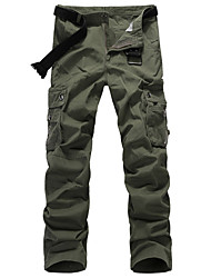 cheap -Men's Hiking Pants Summer Outdoor Lightweight Breathable Quick Dry Sweat-wicking Cotton Pants / Trousers Bottoms Black Army Green Khaki Coffee Camping / Hiking Fishing Hiking 28 29 30 31 32