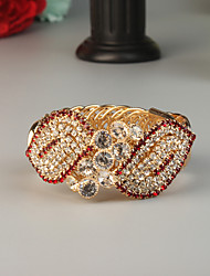 cheap -Women's Wide Bangle Fashion Rhinestone Bracelet Jewelry Gold For Wedding Party