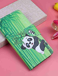 cheap -Case For Motorola MOTO G6 / Moto G6 Plus Wallet / Card Holder / with Stand Full Body Cases Panda Hard PU Leather