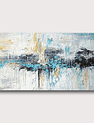 cheap -Oil Painting Hand Painted Abstract Comtemporary Modern Stretched Canvas With Stretched Frame