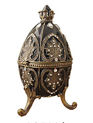 cheap -Jewelry Box Trinket Box Antique Jeweled Russian Tin Alloy For Easter Egg Cosplay Easter Women's Costume Jewelry Fashion Jewelry