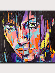 cheap -Oil Painting Hand Painted - People Pop Art Classic Modern Rolled Canvas