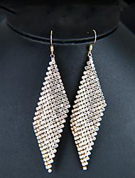 cheap -Women's Drop Earrings Hanging Earrings Long bridesmaid Imitation Diamond Earrings Jewelry Gold / Silver For Wedding Anniversary Evening Party Club Bar 1 Pair