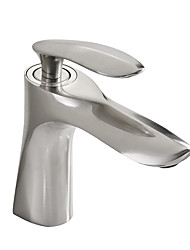 cheap -Bathroom Sink Faucet - Widespread Brushed Free Assemblement Single Handle One HoleBath Taps