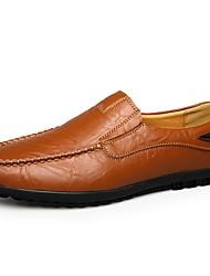 abordables -Homme Mocassins Cuir Printemps été Classique / Simple Mocassins et Chaussons+D6148 Noir / Jaune / Marron / Bureau et carrière / Chaussures de conduite