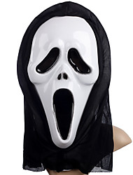 cheap -Cosplay Costume Mask Inspired by Skeleton / Skull Scary Movie Black White Halloween Halloween Masquerade Adults' Men's Women's