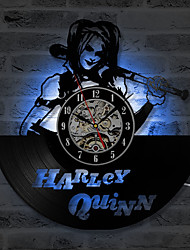 Недорогие -cd рекордные часы виниловые пластинки настенные часы harley quinn настенные украшения часы