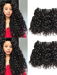 cheap -6 Bundles Malaysian Hair Water Wave 100% Remy Hair Weave Bundles Headpiece Natural Color Hair Weaves / Hair Bulk Bundle Hair 8-28 inch Natural Color Human Hair Weaves Odor Free Extender Silky Human
